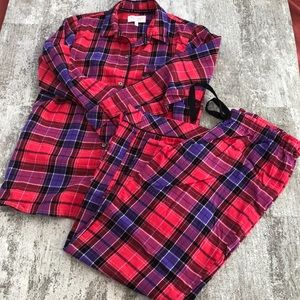 Victoria's Secret Flannel Pajama Set Size M